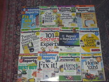 Consumer Reports back issue collection: Focus On Home & Yard (12 issues)