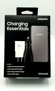 New 5000mAh Portable Battery Wall & Vehicle Charger Samsung Charging Essentials