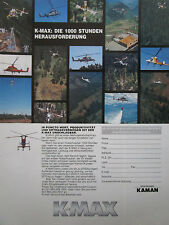 5/1998 PUB KAMAN HELICOPTER HELICOPTERE KAMAN K-MAX HUBSCHRAUBER GERMAN AD