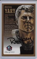 Ron Yary Pro Football HOF Autographed Bronze Bust Card 100/150