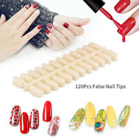 120Pcs False Nail Tips Display Nail Art Polish Palette Chart Color Card Practice
