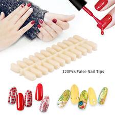 120 False Nail Tips Polish Palette Nail Art Practice Shelf Color Sticker Display