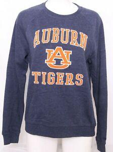 NEW Auburn University AU Tigers Colosseum Blue Crew Neck Sweatshirt Women's M