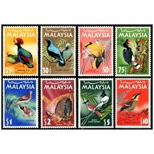 BEAUTIFUL BIRDS Sc#20-27 MALAYSIA 1965 FREE SHIPPING 8v MNH