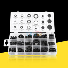 125pcs Rubber Grommet Assortment Firewall Hole Plug Electrical Wire Gasket Kit