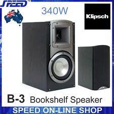 "Klipsch B-3 340W 6.5"" Bookshelf Speakers - Pair - (Black Ash)"