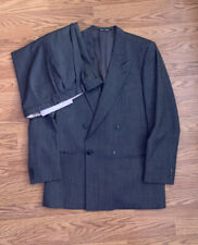 Vintage 1980s Giorgio Armani Mani Grey Double Breasted Power Suit - Size 38R