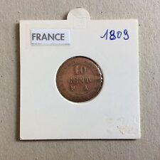 Pièce  France 10 cent  1809 A L'N Couronne  Atelier A