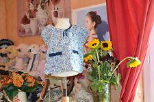 blouse lili gaufrette 3 ans liberty noeud marine poche tres mimi***