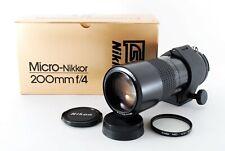 【N.MINT】Nikon Micro NIKKOR 200mm f/4 IF Ai-S Lens w/Box From Japan