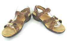 Aravon Shoes 9 Brown Bronze Leather Strappy Sandals Womens 9 B