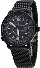 CITIZEN NIGHTHAWK #BJ7009-58E BRAND NEW IN BOX BLACK BAND AND FACE 3 HAND ANALOG