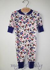 HANNA ANDERSSON Baby Organic Zip Sleeper Winterbird Purple 60 6-9 months NWT