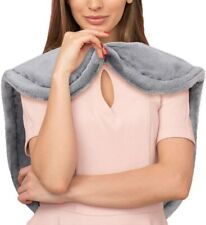 """Electric Neck Shoulder Back Heating Pad w/ 6 Temperature Setting 25""""X26"""" Gray"""
