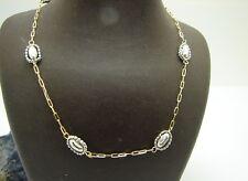 Kette 750 Gold Bicolor 18kt Collier Halskette Goldkette 45 cm 4,7 Gr