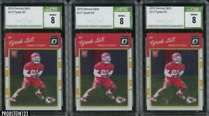 Investor Lot Of (3) 2016 Donruss Optic #117 Tyreek Hill Chiefs RC Rookie CSG 8