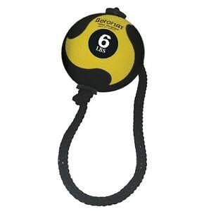 6 Lb Aeromat Tornado Ball With Rope (Yellow) Elite Power Medicine Ball Weight