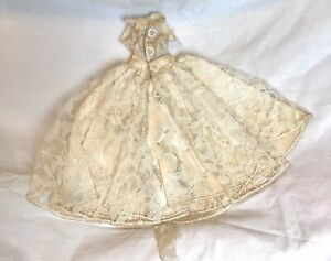 Extremely Rare 1960 Vintage #1 Tagged Ideal Mitzi Barbie Wedding Dress, Stunning