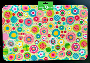 Holographic 3D Placemats, Durable High Quality Vinyl, Bright Colors Set Of 2-NEW