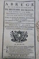 Cinquième abrégé [1739] de la Carte générale du militaire de France