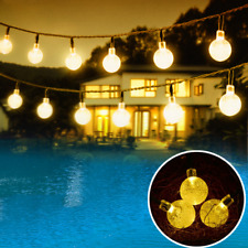 20ft Solar String Lights Garden Party Outdoor Decor Fairy Bubble Lights 30 LED