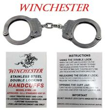 NEW WINCHESTER Model WN-40 Vintage Police Handcuffs with 2 Keys Tactical Cuffs