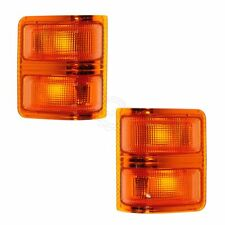 Tow Mirror Turn Signal Light Lens LH Amber RH PAIR SET for 99-12 Ford Truck