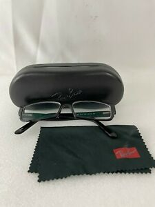 RAY-BAN RB5144 2000 53-15-140 Eyeglasses Frame w/ Case & Cloth, Pre-owned