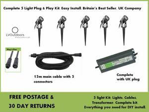 Alder AlderMax Garden Light Kit 12v - Low Voltage 5 LIGHTS Techmar LVOutdoors