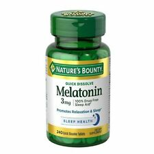 Nature's Bounty Melatonin 3 mg Tablets 120CT Supports Relaxation and Sound Sleep