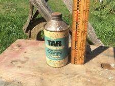 Vintage Gary's Tar Remover Cone Can , Paper Label , Tonawanda NY