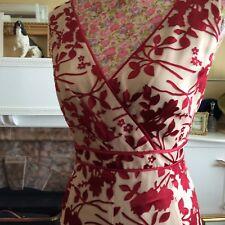Jacques Vert Poppy Oatmeal Dress S 16 /jacket Size 14 Pristine Hols 11/9