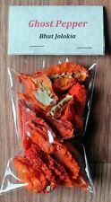 Dried Ghost Pepper (Bhut Jolokia) Pepper (0.25 oz)