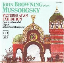 John Browning plays Mussorgsky: Pictures at an Exhibition, Sonata (4 hands), Hop