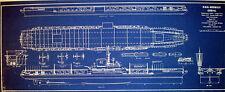 USN Aircraft Carrier USS MIDWAY CVB41 1945 Print Blueprint Plan 12x29  (263)