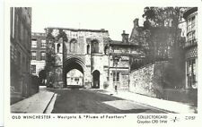 "Hampshire Postcard - Old Winchester - Westgate & ""Plume of Feathers""  3578"