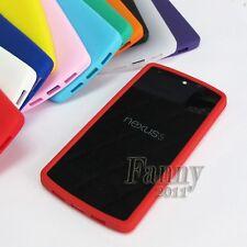 Red TPU Gel Cover Skin Case for Google LG Nexus 5 D820 D821
