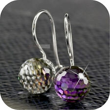 18k white gold gp made with SWAROVSKI crystal magic ball stud earrings