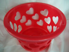 BASKET WITH CUT OUT HEARTS (COLORS) RED -PINK -WHITE