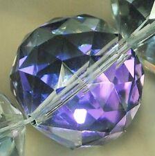 20mm Faceted Translucent Purple Quartz Round Beads 6PCS