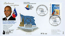"PE625 FDC European Parliament ""Visit of Mr. Michel MARTELLY, Haiti"" 11-2012"