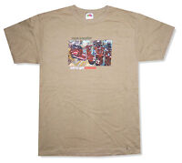"MARK KNOPFLER ""KILL TO GET TOUR 2008"" SAND BROWN T-SHIRT NEW OFFICIAL ADULT"