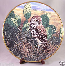 The Hamilton Collection by Spode Noble Owls of America Prairie Sundown with CoA