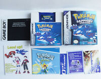 AUTHENTIC Pokemon Sapphire Version New Battery GBA CIB Box Manual