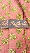 """Vintage, Raffaello, Silk, Burgundy/Gold, Ancient Madder, XL, Neck Tie (61"""")"""