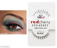 Lot 3 Pairs RED CHERRY #27 False Eyelashes Under Lash Fake Eye Lashes