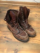 """Vintage Red Wing Boots 8"""" Moc Toe Lace-up Sz 8A *Usa!*"""