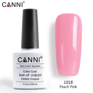 CANNI Premium UV LED Soak Off Nail Gel Nail Polish Top Base Colour Coat Varnish