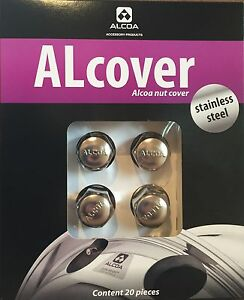 GENUINE ALCOA WHEEL STAINLESS NUT COVERS TO FIT 32MM WHEEL NUTS - QUANTITY 20