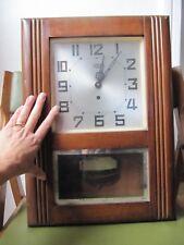 horloge pendule ODO N° 20 made france fonctionne clé + balancier  no carillon